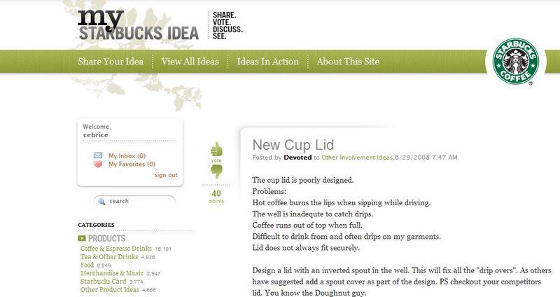 My idea Starbucks